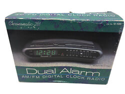 Radio Shack Chronomatic 281 Dual Alarm Digital Clock Radio