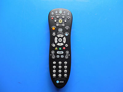 AT&T U-verse S10-S4 Standard Universal TV Remote Control DVR Black Replacement