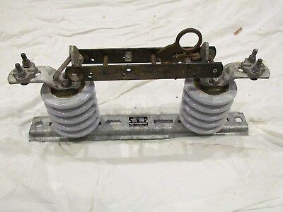 Vintage Antique Industrial Electric Knife Switch Frankenstein Mh 600a 15500v Cu