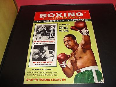 Boxing Illustrated Wrestling News December 1960 Magazine Vf  7 5  Archie Moore