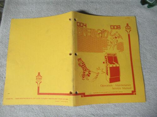 BREAKOUT ATARI    arcade game manual