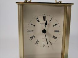 Kaiser Wittnauer West Germany Vintage Brass Desk Clock  Clean, Tested