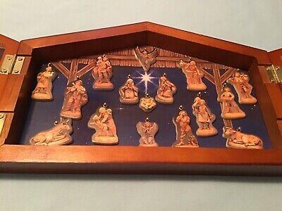 Vintage 1993 Fontanini Advent Calendar Wood Nativity Set