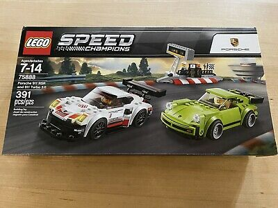 LEGO 75888 Speed Champions Porsche 911 RSR & 911 Turbo NISB (New in Sealed Box)