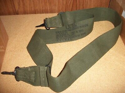 (1) USGI GP Sling OD Canvas 1950s Dated Cargo Carrying Strap