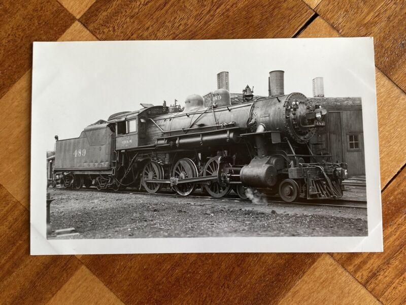 Chicago North Western Railroad Locomotive 489 Vintage Photo C&NW