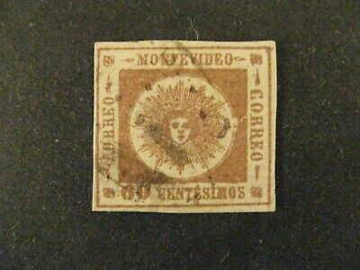 Uruguay #13b used brown lilac a21.7 2801