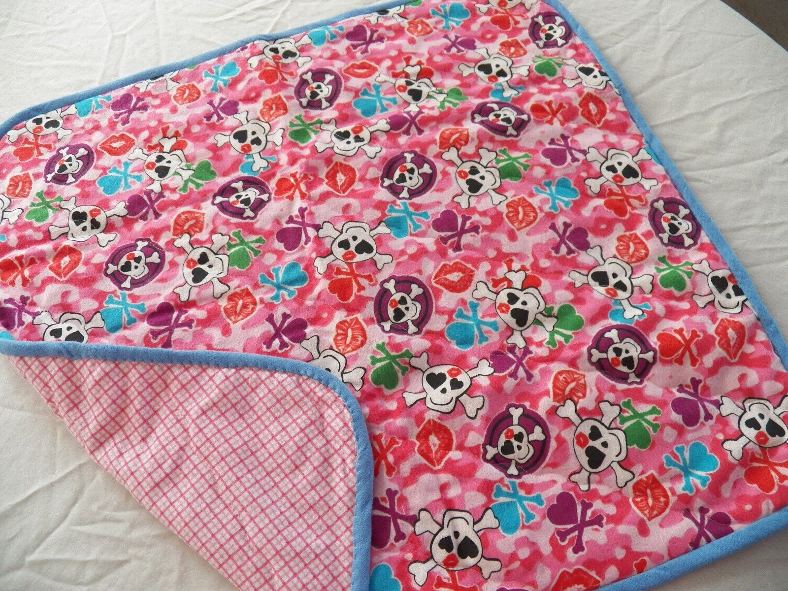 BABY CHANGING PAD Portable Diaper Travel Mat Cotton Washable Padded Handmade NEW 24