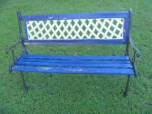 Cast Iron Garden Bench Seat Ends & Backrest Coopers Plains Brisbane South West Preview