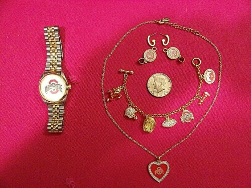 Danbury Mint His/Hers OHIO STATE Jewelry Set