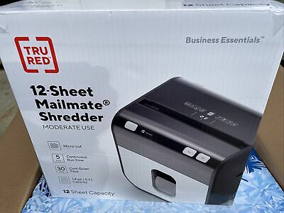 Tru Red Mailmate 12-sheet Micro-cut Shredder Tr-nmc12m9a