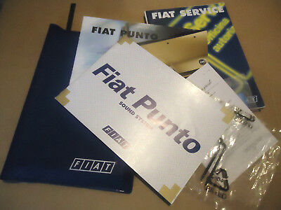 Fiat Punto MkII Blue Wallet, Security Code Card, Stereo Manual & Removal Tools