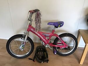Girls bike and helmet