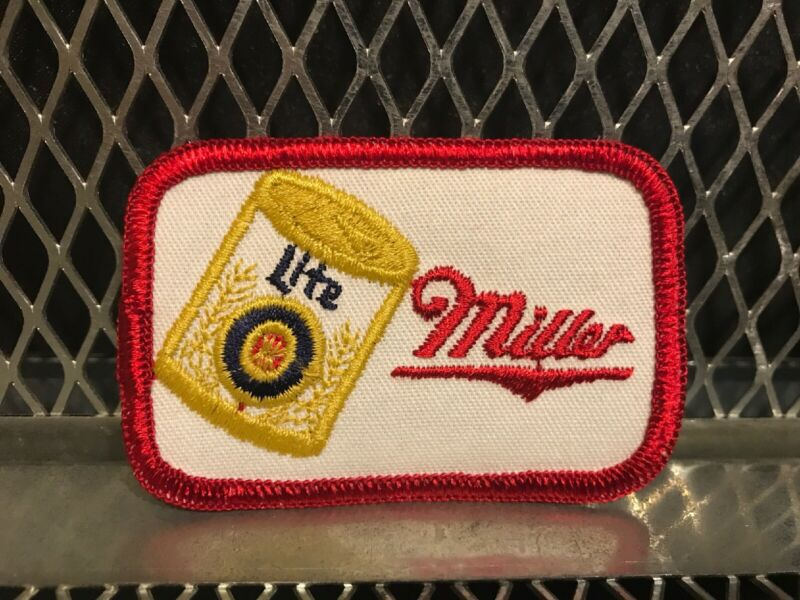 MILLER LITE BEER ~ VINTAGE ~ NEW ~ Patch for Hat Shirt Vest Unused BREWING WI