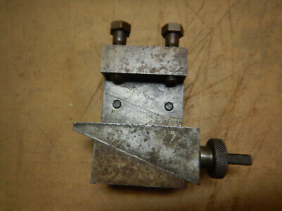 Older Shop Made Metal Lathe Tool Holder Adjustable Machinist Tool