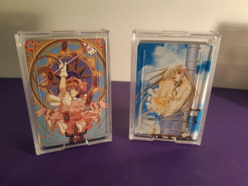 Anime Artwork Playing Cards* Cardcaptor Sakura* Chobits * 2 Decks * Like New