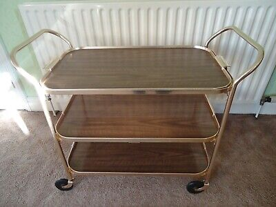 Vintage Large Kaymet Trolley 3Tier Removable Top Tray Superb Industrial Quality