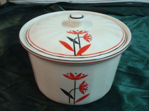 "Vintage Harker Pottery Hot Oven Covered Caserol  6 5/8"" diameter, 4 3/4"" tall"