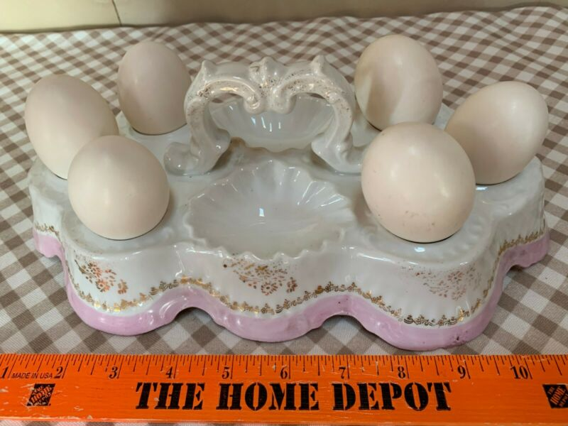 Thought to be an English Antique Boiled Egg Caddy - Unknown History