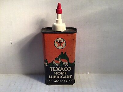 Vintage Texaco Oil Can Handy Oiler 4 Oz rare tin Old Sign Mobil Veedol Tydol BP