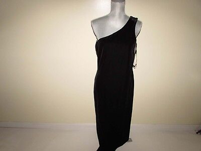 Adrianna Rachel Kaye Women's Tarzan Stretch Velvet Dress One Shoulder Black](Tarzan Dress)