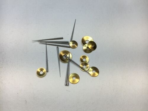 Brass Washers and Tapered Pins for Clock Repair to Hold Hands Set of 20