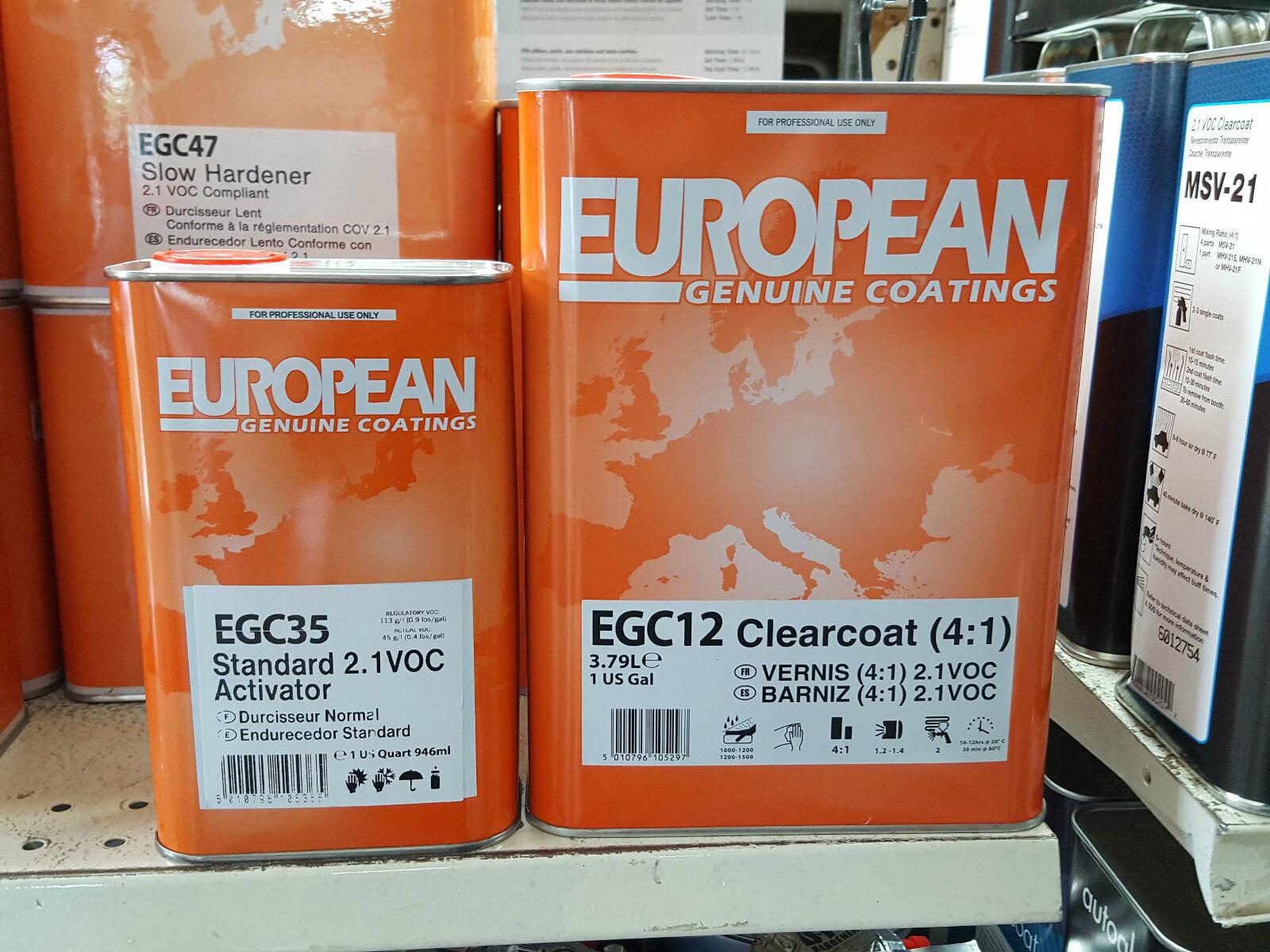 UPOL European Clear Coat 2K Urethane 1 gal/1 qt Standard Activator EGC12