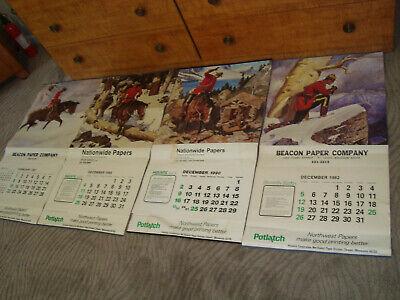 Lot 4 Big VTG Calendars By A. Friberg Artist '82 '87 '88 '90 Prints Advertising