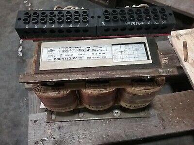 Hammond 3 Ph 4 Kva Transformer Hv600480240v 1445544 240y139v 04taw A10pr2