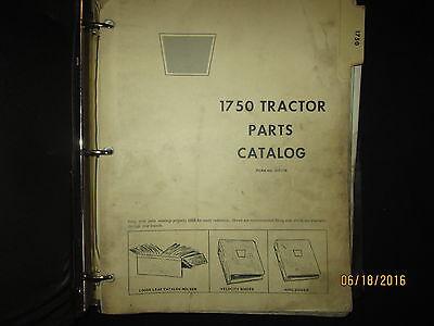 Oliver Cockshutt 1750 Tractor Parts Catalog Book Manual Factory Original 1968