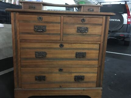 Antique timber chest