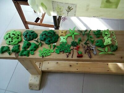 Playmobil large bundle of greenery, trees, branches, bushes + see photos