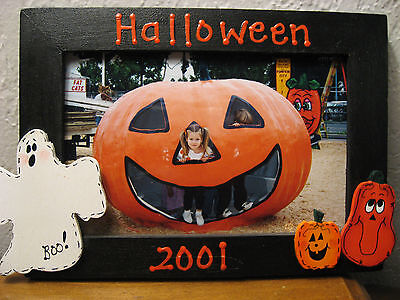 HAPPY HALLOWEEN - 2017 family holiday fun ghost pumpkin photo picture frame