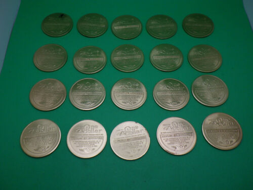 x20 Roll One Dollar Trade Tokens Century 21 Expo 1962 Worlds Fair Seattle USA