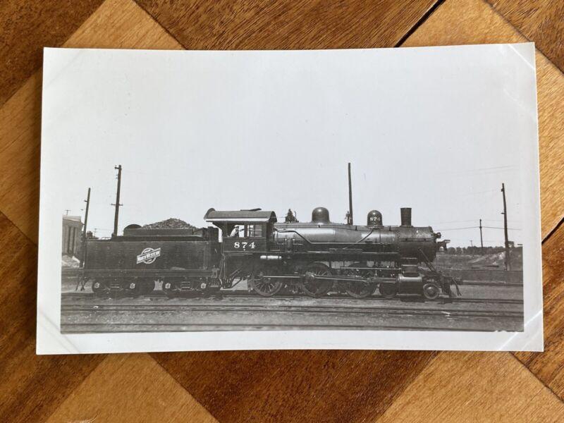 Chicago North Western Railroad Locomotive 874 Vintage Photo C&NW