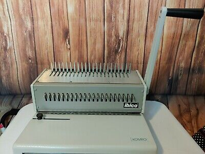 Ibico Kombo Commercial Heavy Duty Manual Comb Punchbind Machine-tested Combs