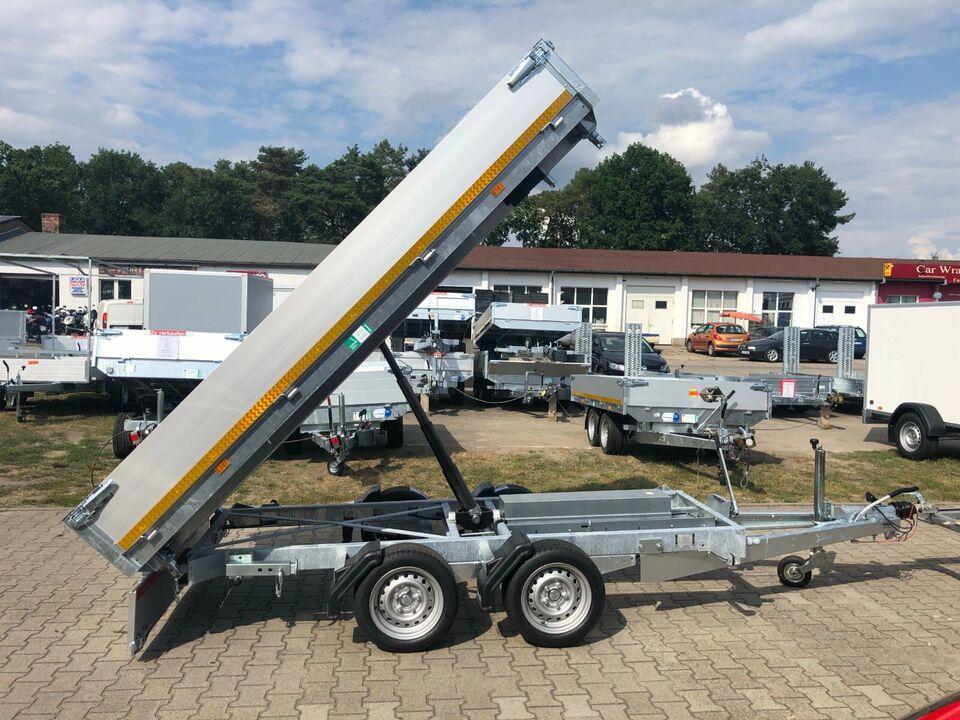 ⭐ Anhänger Eduard e-Kipper 3-Seiten 2700kg 311x160x30cm Rampen 63 in Schöneiche bei Berlin