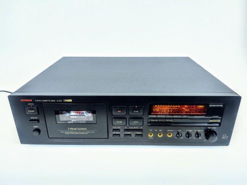 """Luxman K-373 3 head Cassette Player """"As-IS""""  please read"""
