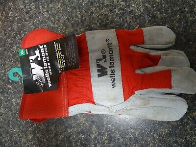 Wells Lamont 4050xl Universal Cowhide Leather Work Gloves Red Xl