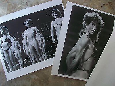 "Lot of 2 PUMPING IRON 2 - THE WOMEN 8"" X 10"" original b/w prints"