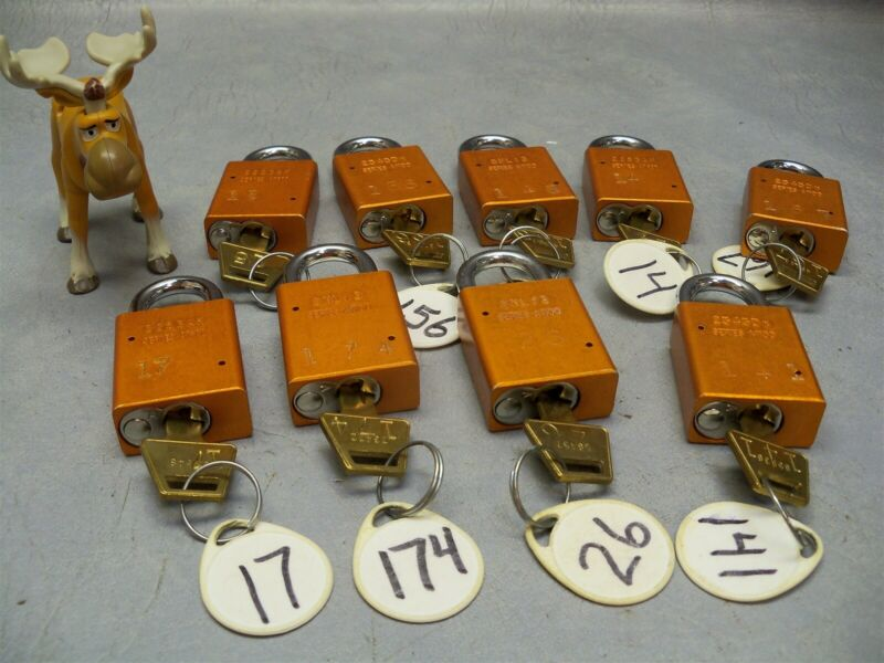 Safety Lockout Cylinder lock Series A1100 American Lock with key Lot of 9