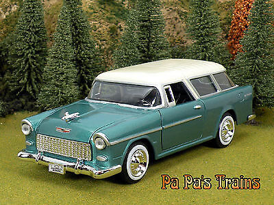 Die Cast 1955 Chevrolet Nomad Model G Scale 1:24 by Showcasts 55 Chevy Nomad