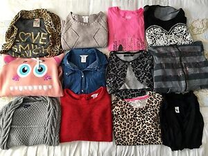 Size 10/12 Girls - Lot of 12 Tops