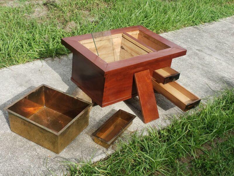Antique Japanese  Zelkova Wood Brazier Hibachi Tansu Display