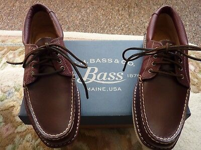 BASS WEEJUNS MENS LAYTON DRIVER SHOES SZ8,DARK BROWN NEW IN BOX