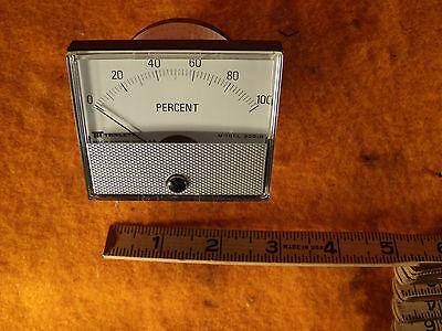 Triplett Panel Meter 0-100 Percent 0-170vdc Movement Model 220-g