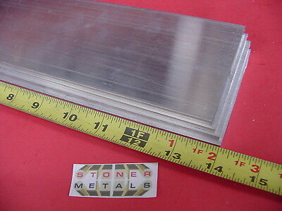 4 Pieces 316 X 3 Aluminum 6061 Flat Bar 14 Long .187 Plate Mill Stock .187