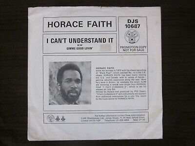 """Horace Faith,  I Cant Understand It. """" Northern Soul Promo """""""