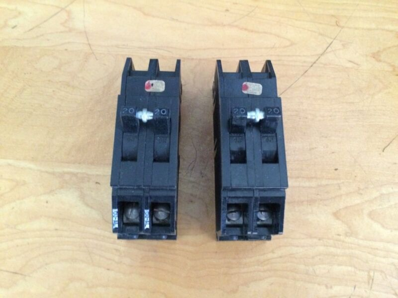 GTE Sylvania QC220 20 AMP 2 Pole Circuit Breaker