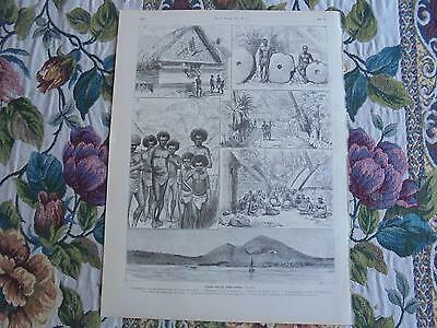 1886 Stich 9 / Südsee Palau Salomon Inseln Marschall Inseln Kolonien